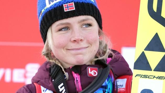 Maren Lundby (NOR) (Bild: APA/GEORG HOCHMUTH)