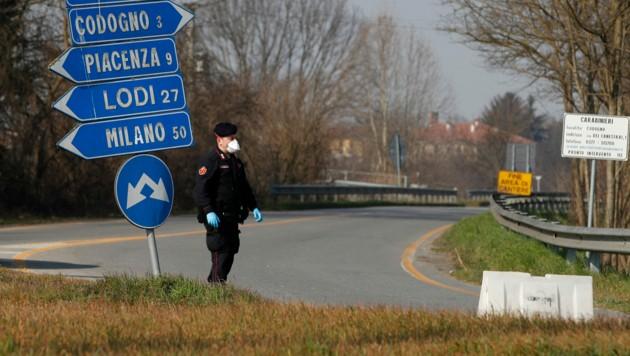 In Codogno wurde am 20. Februar der erste Corona-Infektionsfall Italiens gemeldet. Später wurde das gesamte Gebiet abgeriegelt. (Bild: AP)