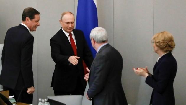 Das einzige, das jetzt noch zwischen Putin und seinem Verbleib an der Macht steht, ist eine Volksabstimmung der russischen Bevölkerung über die Verfassung am 22. April. (Bild: AP)