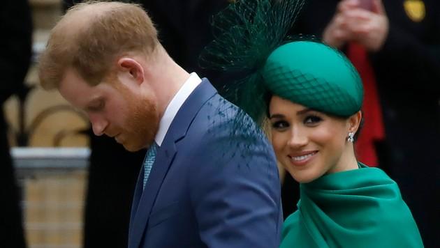 Prinz Harry und Herzogin Meghan bei ihrem letzten Auftritt (Bild: APA/AFP)