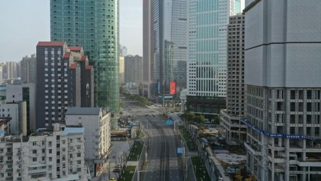 Die Straßen in Wuhan sind noch nahezu leer. (Bild: AFP)
