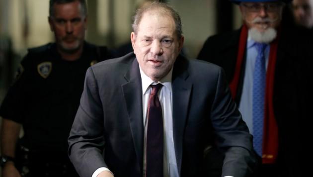 Harvey Weinstein vor seiner Verhandlung am 20. Februar in New York (Bild: AP)