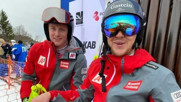 Stefan Rieser (re.) hat schon Gold und Bronze bei der Junioren-WM abgeräumt. Mehr wird´s nun nicht. (Bild: Jan-Arne Pettersen/narvik2020.no)