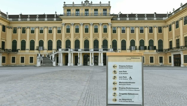 So leer hat man Schönbrunn selten gesehen ... (Bild: APA/HERBERT NEUBAUER)
