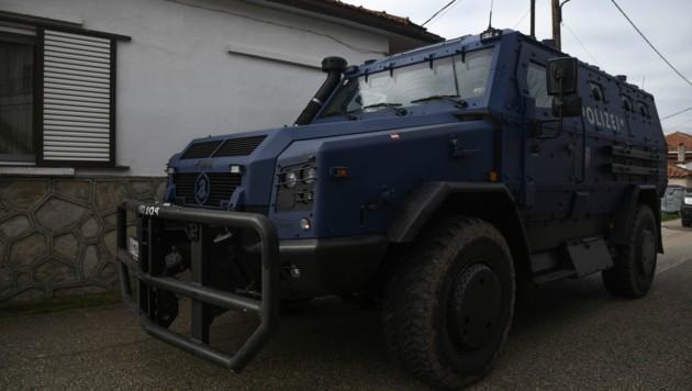 Die österreichische Polizei unterstützt die Griechen bei der Grenzsicherung. (Bild: AP)