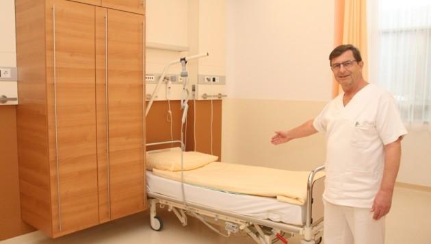 """""""Wir sind bestens vorbereitet"""", betont Direktor Rupert Strasser. Räume für Infizierte stehen schon bereit. (Bild: zVg)"""