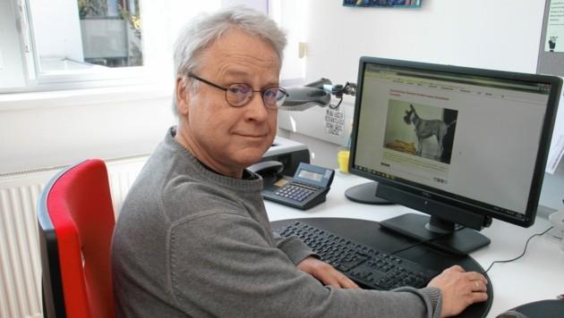 Kurt Remele verleiht Tieren eine kräftige, wissenschaftlich fundierte Stimme. (Bild: Kronenzeitung)