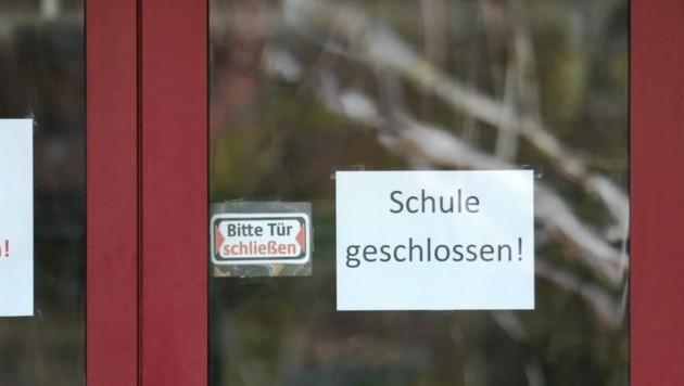 Schule geschlossen in St. Peter/Ottersbach (Bild: Sepp Pail)