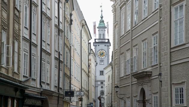 Der handfeste Streit eskalierte in der Salzburger Altstadt (Bild: Tschepp Markus)