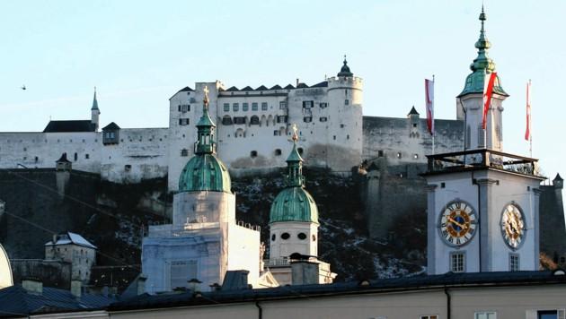 Zielsprint zur Festung Hohensalzburg (Bild: Kronen Zeitung/Andreas Tröster)