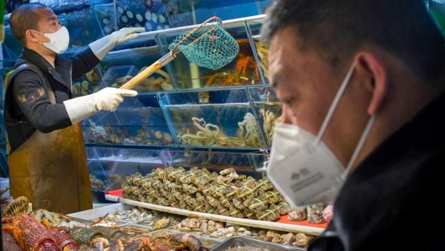 Ein Fischmarkt in Peking (Bild: ASSOCIATED PRESS)
