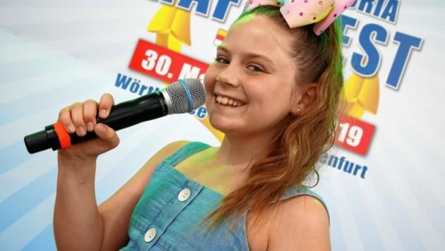 """Das Supertalent: Die Klagenfurterin Brinn Furey hat den Talentebewerb am Alpen Adria-Hafenfest 2019 gewonnen. Heute ist sie bei """"The Voice Kids"""" auf SAT 1 zu hören (Bild: Rojsek-Wiedergut Uta)"""