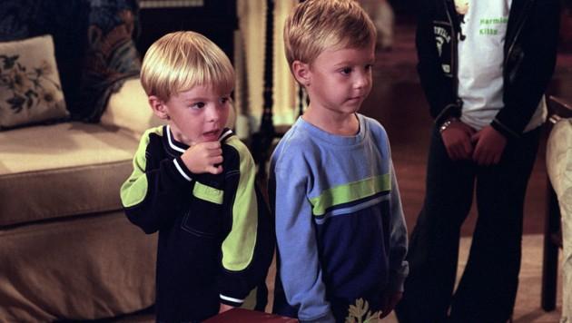 """Nikolas Brino und Lorenzo Brino als Camden-Zwillinge in der Serie """"Eine himmlische Familie"""" (Bild: Everett Collection / picturedesk.com)"""