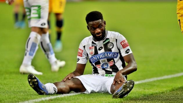 Corona hält den Fußball am Boden - für Sturms Isaac Donkor kein Grund zum Aufgeben! (Bild: GEPA)