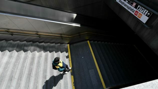Fast leere U-Bahn-Stationen prägen mittlerweile das Wiener Stadtbild. (Bild: APA/HELMUT FOHRINGER)