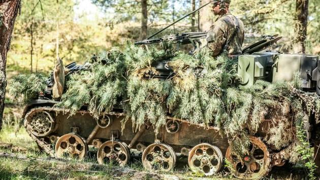Das leichte Flugabwehrsystem Ozelot 2019 bei einer Übung in Polen (Bild: Bundeswehr/Alexander Feja)