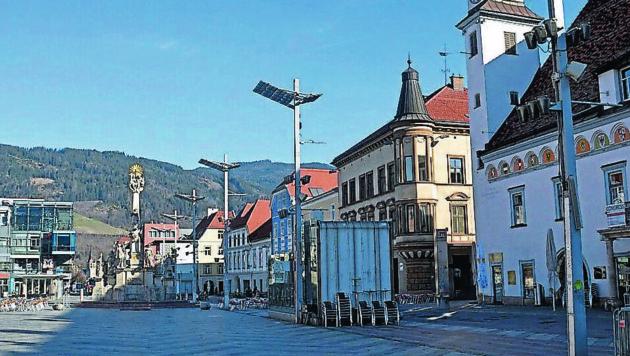 Hauptplatz Leoben (Bild: Heinz Weeber)