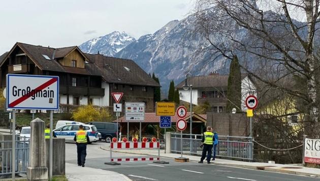 Grenzübergang geschlossen Großgmain Salzburg zu Bayern (Bild: Markus Tschepp)