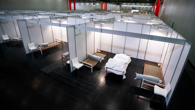 Das Betreuungszentrum in der Messehalle (Bild: APA/Georg Hochmuth)
