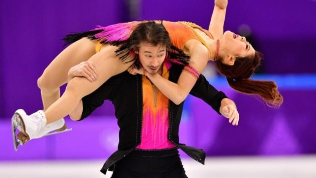 Chris Reed bei Olympia 2018 mit seiner Partnerin Kana Muramoto (Bild: AFP)
