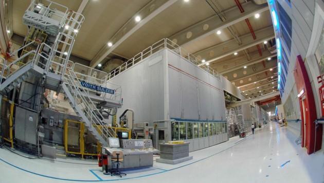 Bei Sappi werden aktuell noch 3000 Tonnen Papier pro Tag produziert. (Bild: Sepp Pail)