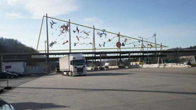 Der Autobahn-Grenzübergang in Spielfeld (Bild: Sepp Pail)