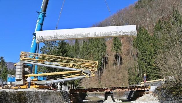 Brückensanierung in Ebensee (Bild: Marion Hörmandinger)