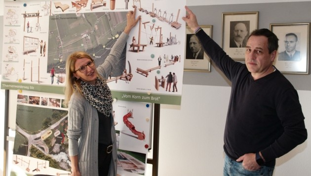 VBM Daniela Holaus und Peter Föger sind die treibenden Kräfte. (Bild: Daum Hubert)