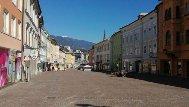 Der Villacher Hauptplatz.