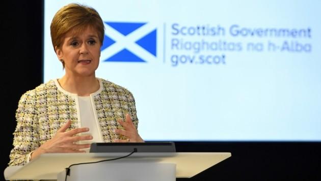 Schottlands Regierungschefin Nicola Sturgeon (Bild: AFP)
