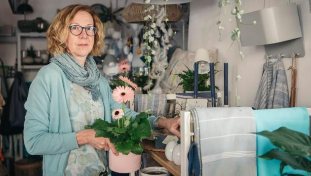 """Floristik-Kleinunternehmerin Ursula Mathis von """"Ecke33"""" in Hohenems. (Bild: www.lisamathis.at)"""