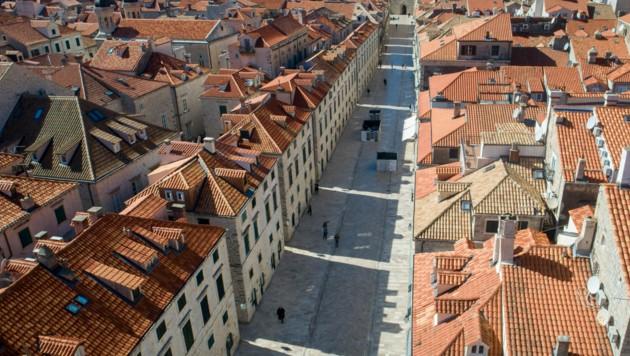 In Coronazeiten glich die Touristenhochburg Dubrovnik in Kroatien einer Geisterstadt.