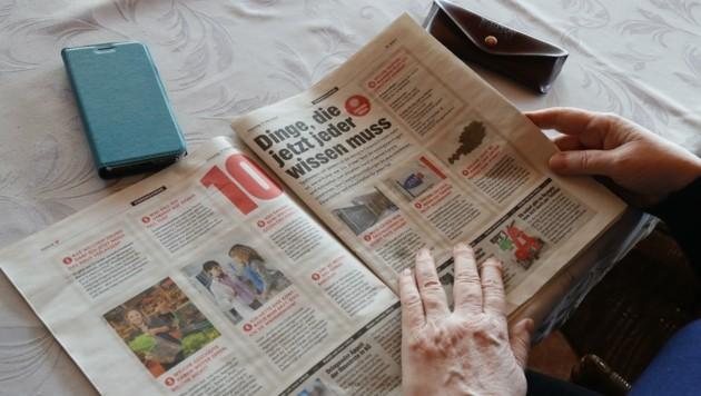 Juen rät, Senioren klassische Medien zugänglich zu machen, damit sie sich informiert fühlen. (Bild: Birbaumer Christof)