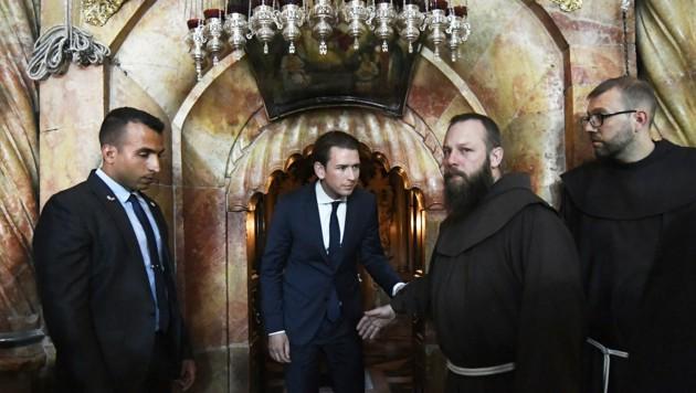 Auch Bundeskanzler Sebastian Kurz besuchte die Grabeskirche bereits.
