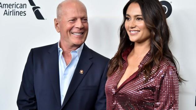 Bruce Willis mit seiner Ehefrau Emma Heming Willis (Bild: 2019 Getty Images)