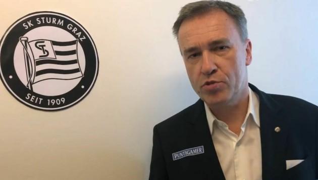 Christian Jauk, Präsident von Bundesligist Sturm Graz (Bild: Screenshot/Facebook/SK Sturm Graz)