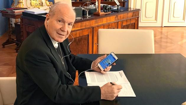 """Kardinal Christoph Schönborn im """"Krone""""-Telefon-Interview (Bild: Hubert Weber)"""