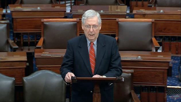 Der republikanische Mehrheitsführer im US-Senat, Mitch McConnell (Bild: AP)