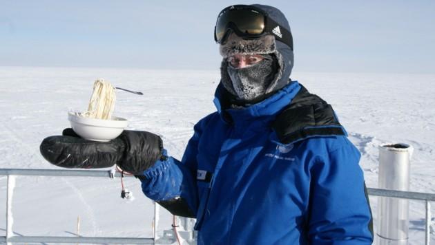 Die österreichische Medizinerin Carmen Possnig in der Antarktis (Bild: PNRA/IPEV/ESA/CYPRIEN VERSEUX)