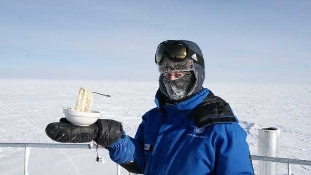 Pasta bei minus 80 Grad: Damit hatte Carmen Possnig ihre liebe Not. . . (Bild: CYPRIEN VERSEUX)