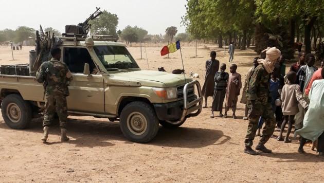 Soldaten der Armee im Tschad (Bild: AFP)