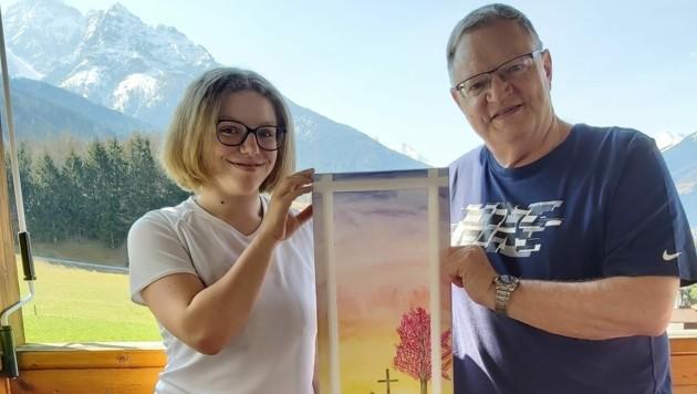"""Rainer Gerzabek aus Mieders im Stubaital mit seiner Tochter Julia. (Bild: """"SKYLINE Family +"""" )"""
