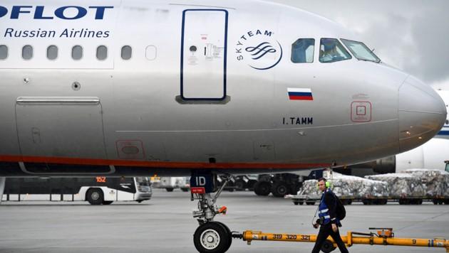 Eine Maschine der russischen Fluglinie Aeroflot (Bild: KIRILL KUDRYAVTSEV/AFP)