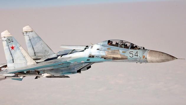 Eine Suchoi SU-27 (Bild: NORWEGIAN AIR FORCE/SCANPIX NORWAY/AFP)