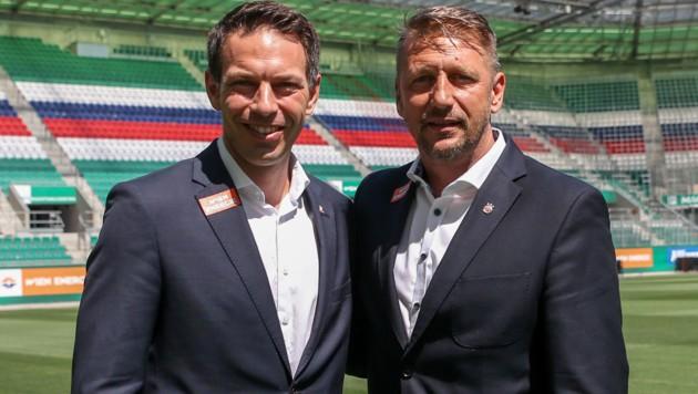 Christoph Peschek (li.) und Zoran Barisic (Bild: GEPA )