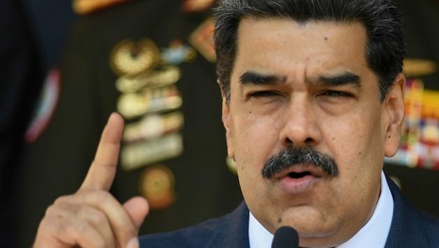 Der Präsident von Venezuela, Nicolas Maduro (Bild: AP)