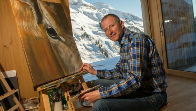 Olympiasieger Hubert Strolz hat seine Liebe zur Malerei entdeckt. (Bild: Stiplovsek Dietmar pauschal)