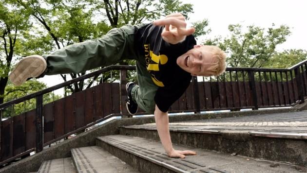 Breaking lässt sich von Tobias Winkler auch auf Treppenstufen vorführen (Bild: Jing Wa)