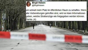 (Bild: APA/HERBERT NEUBAUER, Twitter.com/Birgit Hebein)