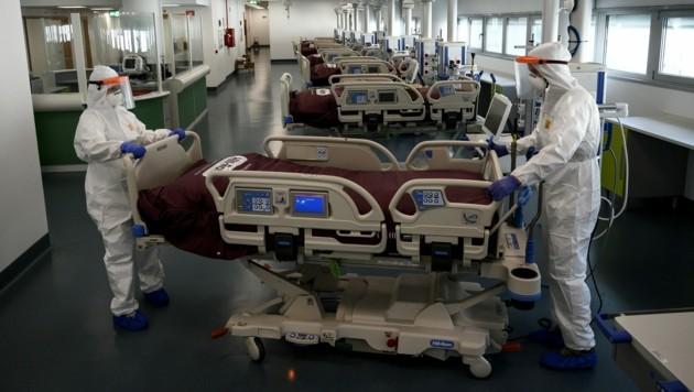 Das Krankenhaus in Verduno im Nordwesten Italiens (Bild: AFP)